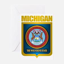 Michigan Gold Label Greeting Card