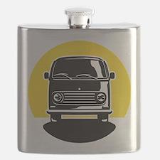 Minivan in Sunset 2 Flask