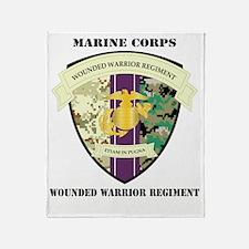 WoundedWarriorRegiment-text Throw Blanket