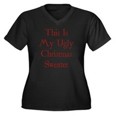 christUgly1C Women's Plus Size Dark V-Neck T-Shirt