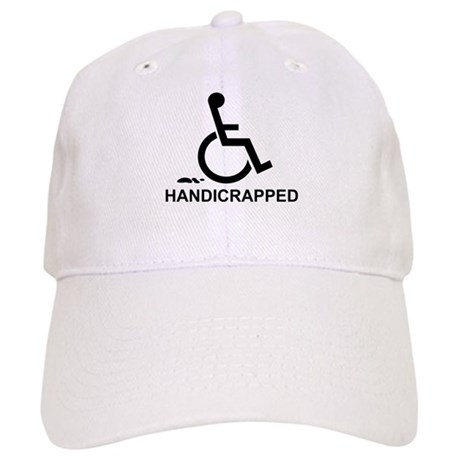 Handicrapped Wheel Chair Humor Cap