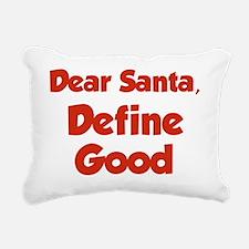 santaDefine3D Rectangular Canvas Pillow