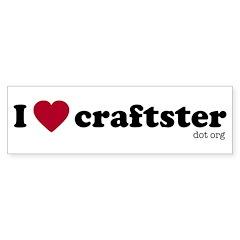 I Heart Craftster Bumper Bumper Sticker