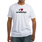 I Heart Craftster Fitted T-Shirt