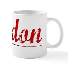 Jordon, Vintage Red Mug