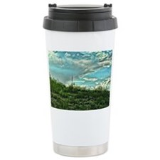 up into the aqua Travel Mug