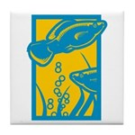 Underwater Fish Tile Coaster
