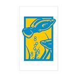 Underwater Fish Rectangle Sticker