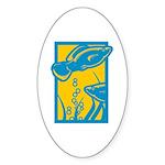 Underwater Fish Oval Sticker