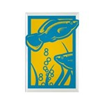 Underwater Fish Rectangle Magnet