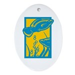 Underwater Fish Oval Ornament