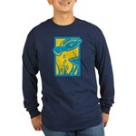 Underwater Fish Long Sleeve Dark T-Shirt