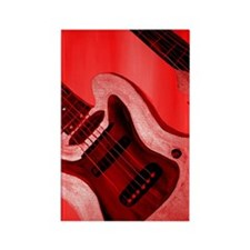 Bold Red Guitar Rectangle Magnet