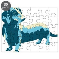 Dachshund Pop Art dog Puzzle