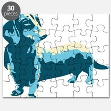 Dachshund Pop Art dog Puzzle