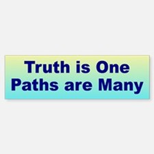 MANY PATHS Bumper Bumper Bumper Sticker