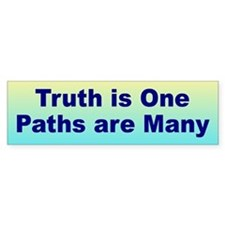 MANY PATHS Bumper Bumper Sticker