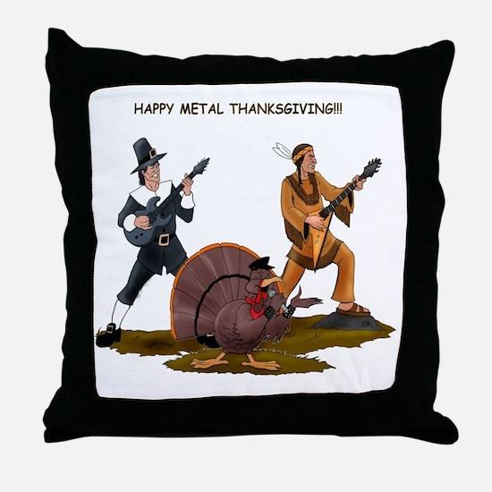 Heavy Metal Thanksgiving Throw Pillow