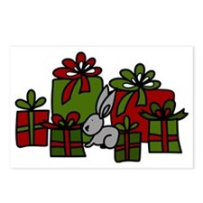 Rabbit With Gifts Postcards (Package of 8)