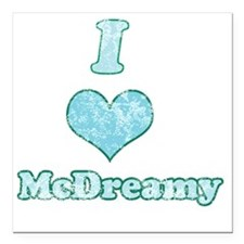 """Vintage I Heart McDreamy Square Car Magnet 3"""" x 3"""""""
