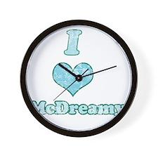 Vintage I Heart McDreamy 1 Wall Clock