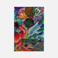 Ocean guitar Rectangle Magnet
