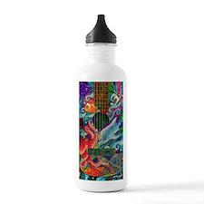 Ocean guitar Sports Water Bottle