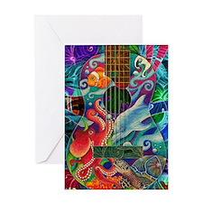 Ocean guitar Greeting Card