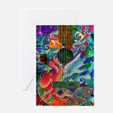 Ocean guitar Greeting Card
