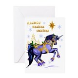Unicorn christmas Greeting Cards