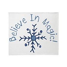 Magic Snowflake Throw Blanket