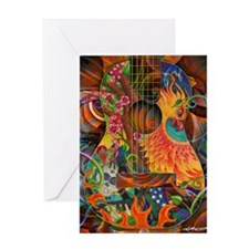 pheonix-print Greeting Card