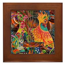pheonix-print Framed Tile