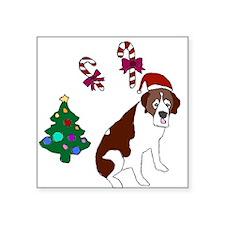 Christmas St. Bernard Dog Sticker