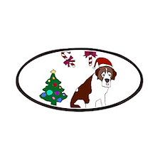 Christmas St. Bernard Dog Patches