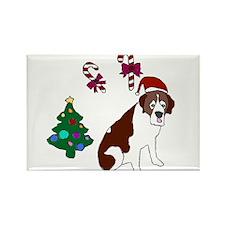 Christmas St. Bernard Dog Magnets