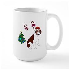 Christmas St. Bernard Dog Mugs