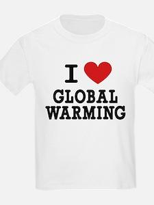 I Love Global Warming Kids T-Shirt