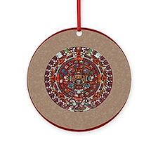 Aztec Calendar- Ornament (Round)