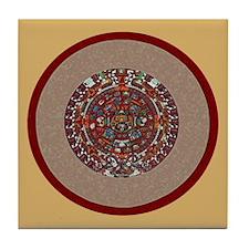 Aztec Calendar- Tile Coaster