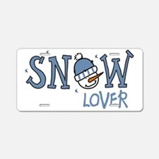 Snow Lover Aluminum License Plate