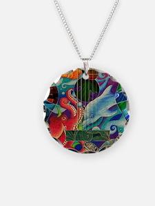 ocean-print Necklace