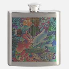 ocean-print Flask