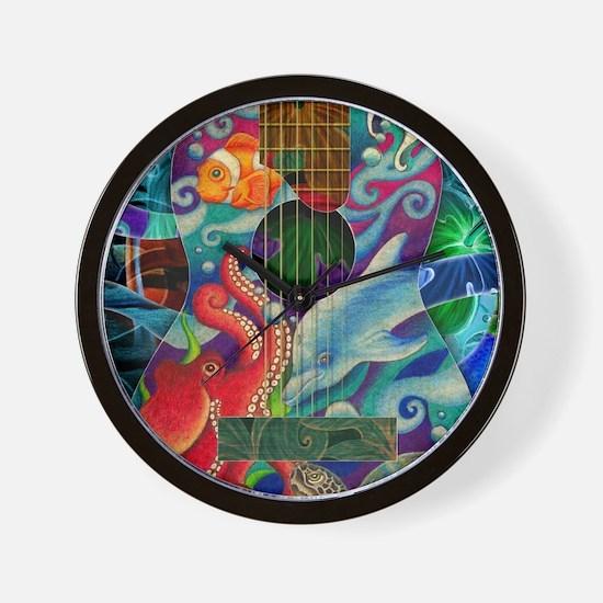 Ocean guitar Wall Clock