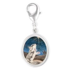 Following the star Silver Oval Charm