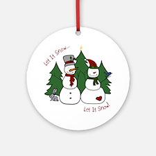 Let It Snow Round Ornament