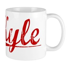 Kyle, Vintage Red Small Mug