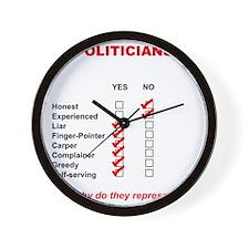 Politician List Wall Clock