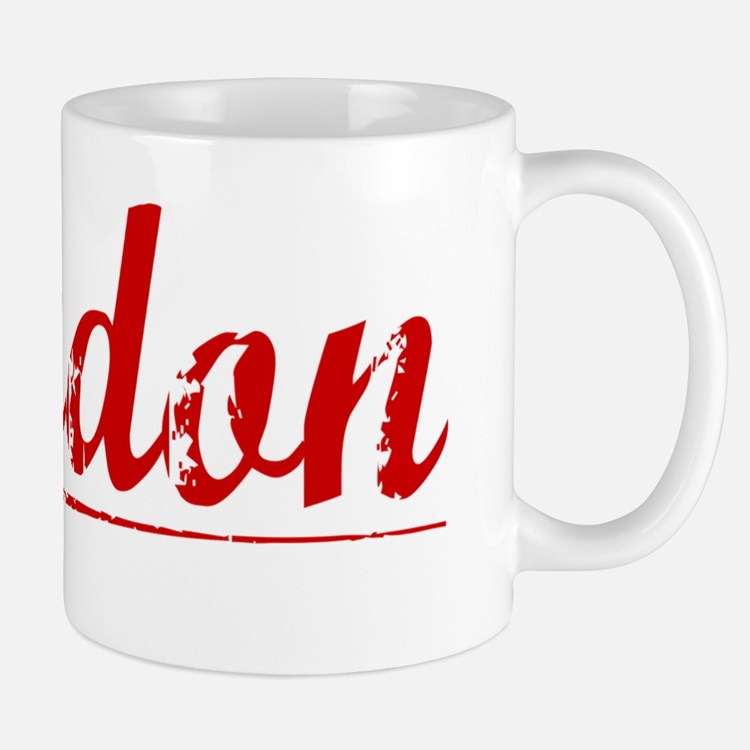 Landon, Vintage Red Mug