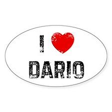 I * Dario Oval Decal
